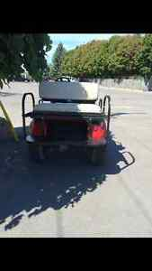 Electric golf cart lifted