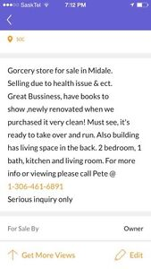 Grocery store for sale in Midale sk Moose Jaw Regina Area image 1