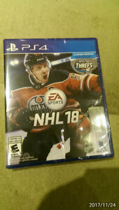 NHL 18 ps4 brand new sealed for trade
