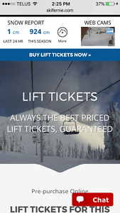 FERNIE & Other Areas LIFT TICKETS