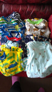 9m Boy's Onesies / Pajamas. 12 Pcs