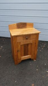 Antique Solid Wood Washstand Cabinet Cupboard