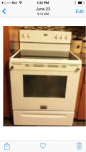 White 30 inch electric range