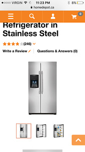 Looking to buy Stainless steal , double door