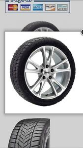 Winter package (tires on wheels) for 2017 Chrysler Pacifica.