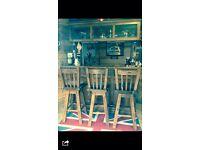 Solid oak home bar