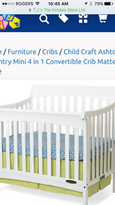 Crib, change table - both white good condition