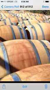 LOOK >> 45 x Oak Wine Barrels @ $175 and Planters @ $90 each