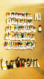 Water-mixable oil paints and regular oil paints - $4