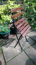 Folding wooden chair IKEA