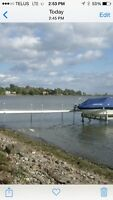 36 ft aluminum dock with polymer decking