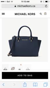 Navy Michael Kors purse