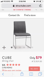 Six Structube Cube Chairs (Grey)