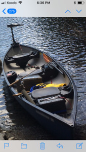 16ft canoe with electric trolling motor