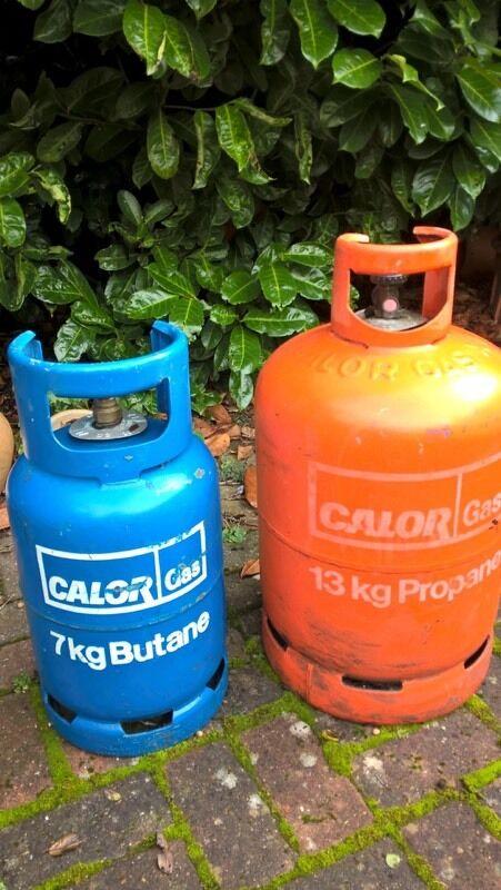 Gas bottles 7kg butane, 13kg propane-empties