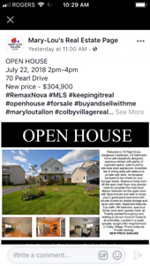 Open House this Sunday July 22