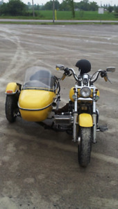 Custom Harley Davidson Softail With Sidecar