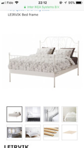 [Moving Sale] Full/double size bed (frame   mattress   box)