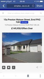 2 bed bungalow in errol for sale
