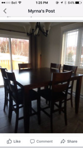 Pub style table/chairs