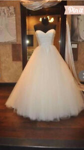 Ivory Silk Organza and Tulle Wedding Dress