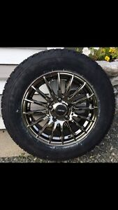 4 winter tires and alloy wheels