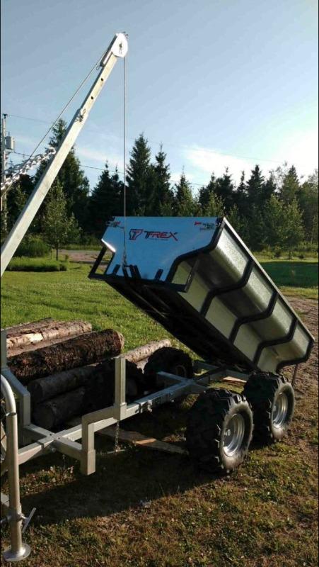 remorque forestiere utilitaire pour vtt utv 2 en 1 tracteur outils main trois rivi res. Black Bedroom Furniture Sets. Home Design Ideas