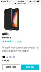 LifeProof iPhone 8 Nuud  - brand new - waterproof - drop-proof