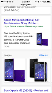 SONY EXPERIA M2 CELL PHONE