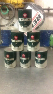 "TEXACO Type ""F"" Composite Oil Tin (Full) 1970-80's"