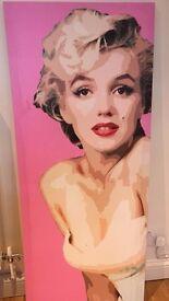 large Marilyn Monroe canvas