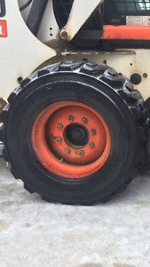 Bobcat tires and rims-great shape