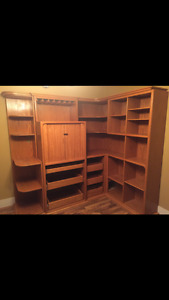Hand made wall hutch unit