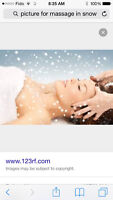 Professional massage special price for snow day (best price )
