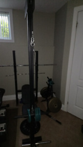 bench press with leg and bigep/tricep pulley