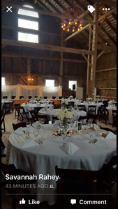 22 gold and white chevron sequinned table runners