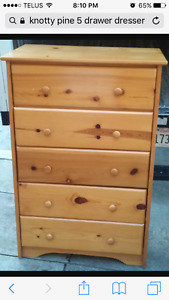 Looking for a 5 Drawer pine dresser