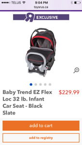 Excellent condition baby trend car seat from smoke free home.