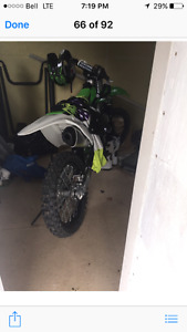 Kx250f only a few hours on engine and body