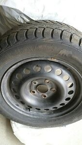 Snow Tires complete with rims. Kitchener / Waterloo Kitchener Area image 1