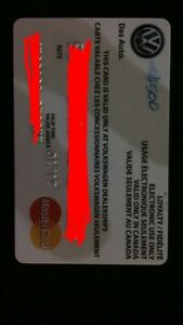 500$ Volkswagen Dealership card
