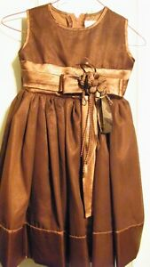 Girls Size 2 Brown Dress--like new