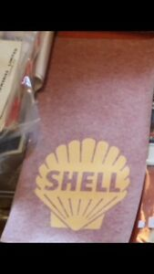 Original 1960s shell pump decals