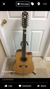 Washburn twelve string guitar