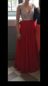 Size 6 Prom Dress.  Taken in a bit on the sides.