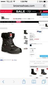 PAJAR winter boots - black SIZE 7