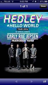 Hedley tickets