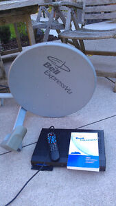 Satellite receiver and dish