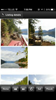 Lake Front Cabin on Mabel Lake for sale Lumby end