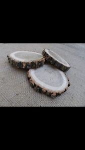 Wood coasters / rounds / centre piece
